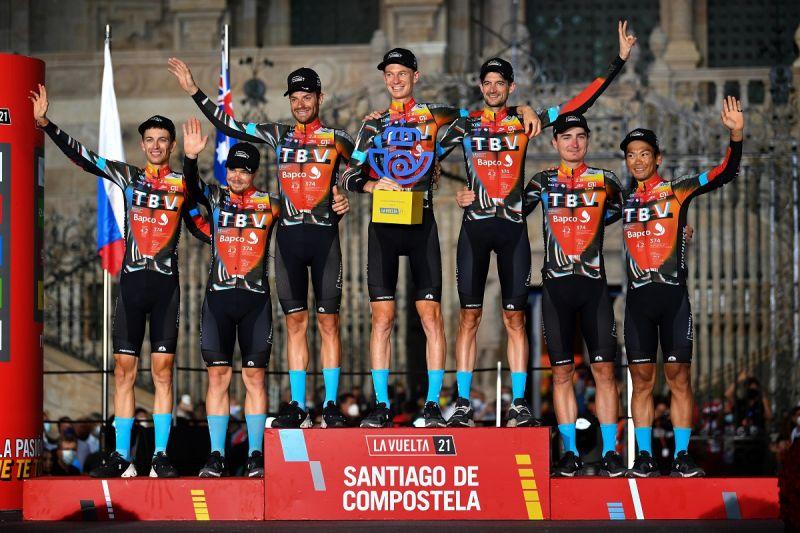 ▲巴林勝利車隊在本屆環西獲得團隊總冠軍榮銜。(圖/美利達自行車提供)