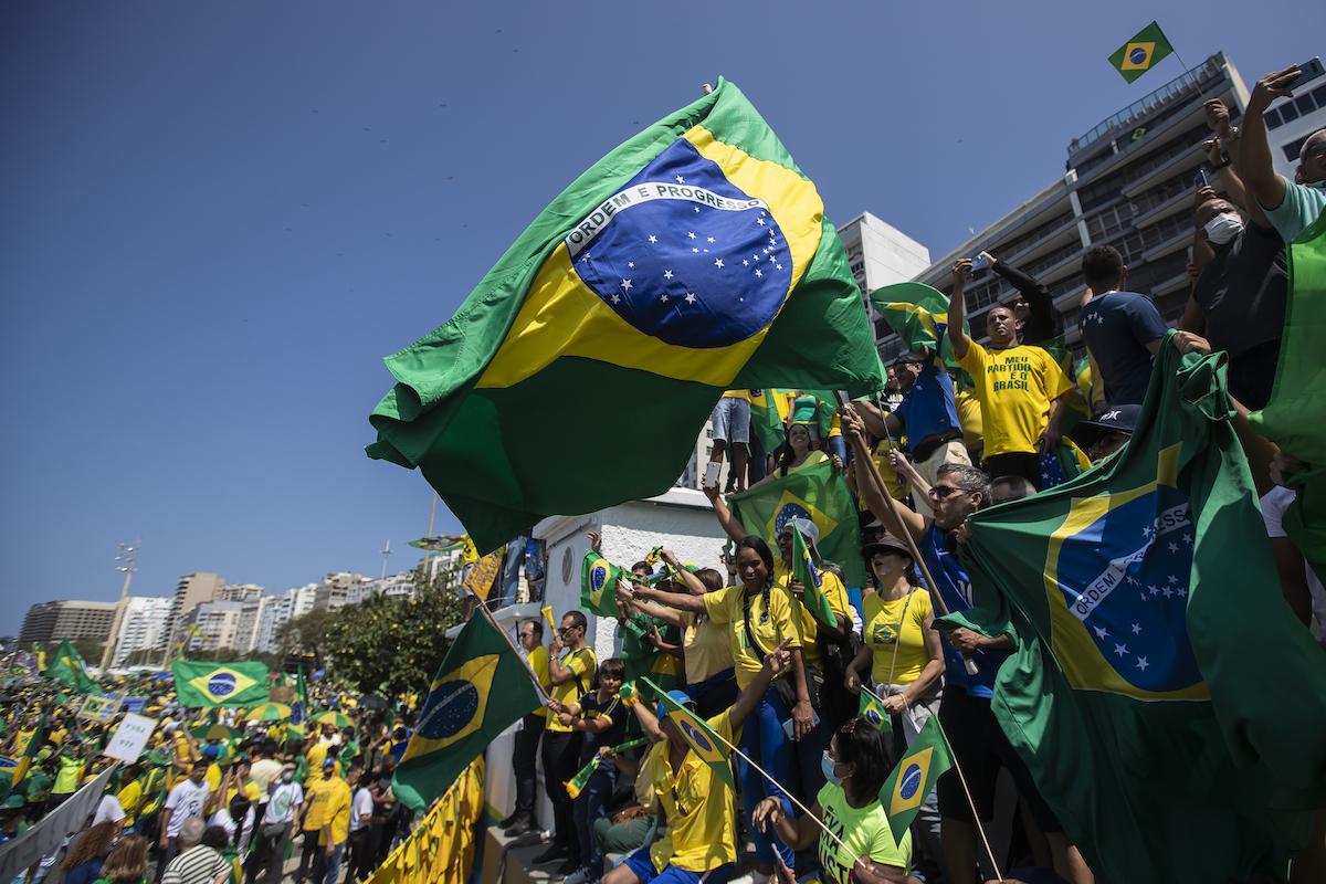 ▲COVID-19疫情重挫巴西經濟,過去一年巴西偷渡美國人數成長6.5倍。(圖/美聯社/達志影像)