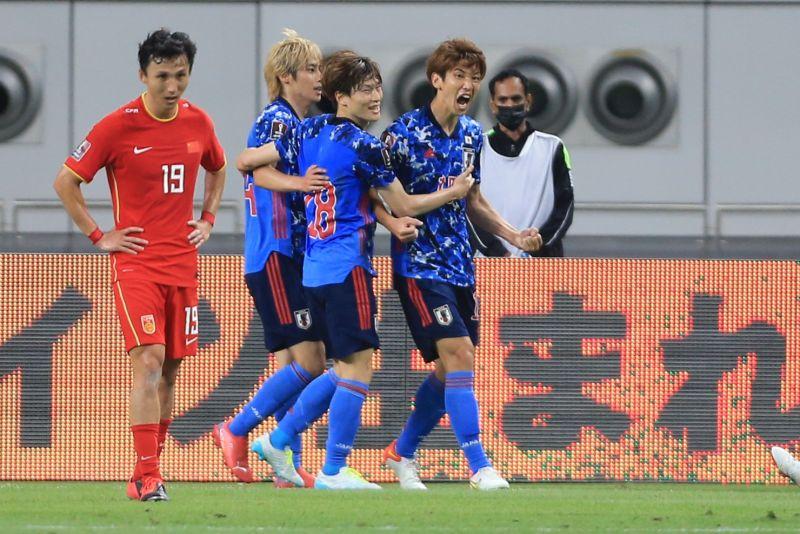 ▲世界盃資格賽第三輪,大迫勇也踢進本場唯一進球,幫助日本隊以1:0擊敗中國開胡。(圖/美聯社/達志影像)