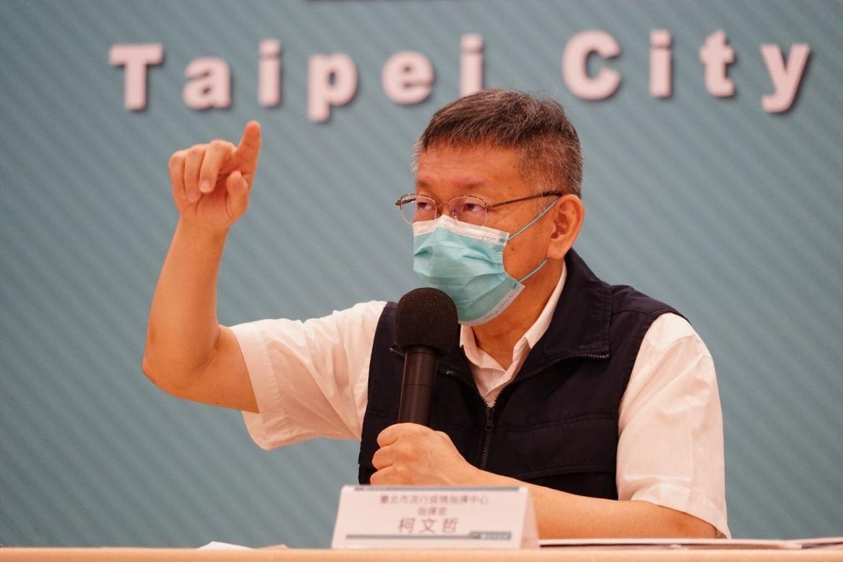 ▲針對「打完兩劑疫苗就可以不戴口罩」的說法,台北市長柯文哲4日表示,民眾應該要對風險管理有自我判斷的能力。(圖/台北市政府提供)