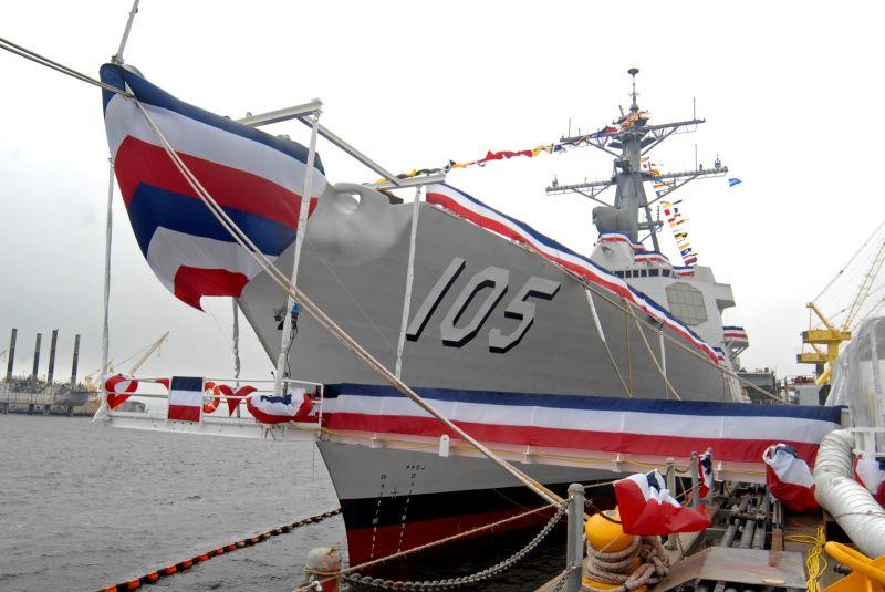 ▲美軍第七艦隊宣布,美國海軍勃克級(Arleigh Burke-class)神盾飛彈驅逐艦「杜威號」(USS Dewey DDG 105)昨天抵達日本橫須賀港,加入第七艦隊作戰陣容。資料照。(圖/美聯社/達志影像)