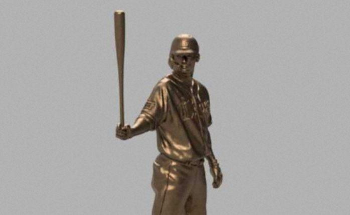 ▲西武栗山巧銅像。(圖/西武隊提供)