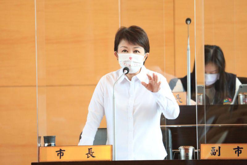 ▲市長盧秀燕表示,謝謝議員的舉發,若查屬違反防疫規定,就會查辦(圖/柳榮俊攝2021.9.9)