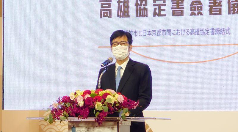 ▲關於國慶煙火,高雄市長陳其邁說目前仍順利在籌辦中。(圖/記者鄭婷襄攝,2021.09.10)