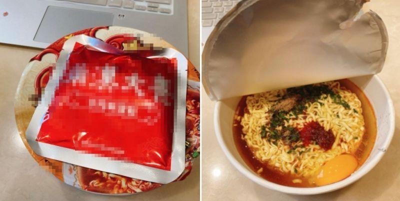 ▲女網友PO出自己泡「肉塊泡麵」的方式。(圖/翻攝自《我愛全聯-好物老實說》)
