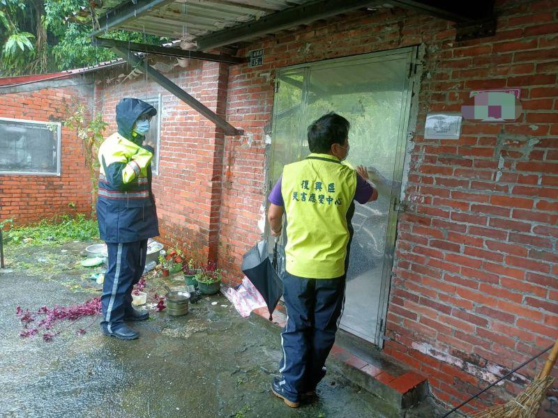 璨樹颱風來襲 大溪警勸離山區居民