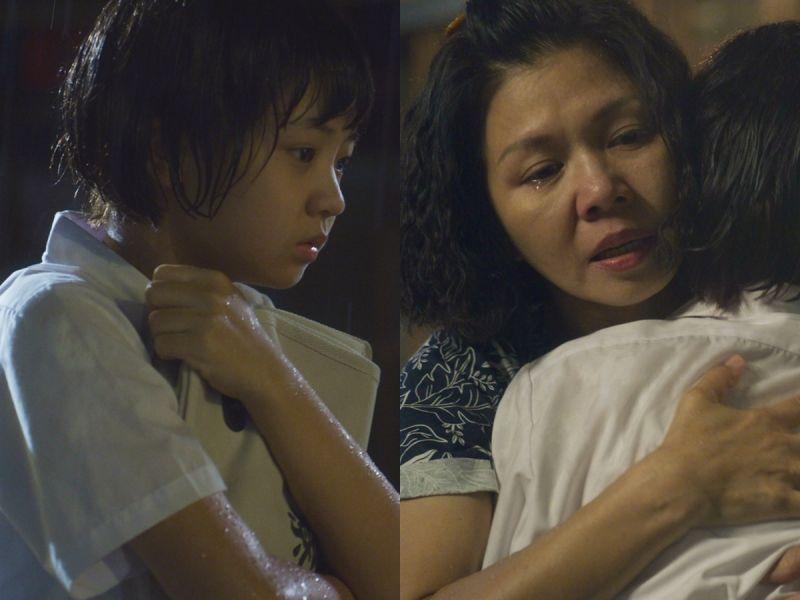 ▲吳以涵(左)、于子育(右圖左)雨夜擁抱成為《俗女養成記2》一大淚點。(圖/華視、CATCHPLAY提供)