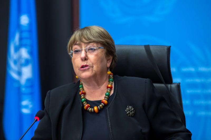 ▲聯合國人權事務高級專員巴舍萊(Michelle Bachelet)表示,塔利班(Taliban)正違背維護阿富汗女權及具涵括性的承諾,她也批評塔利班以暴力對付示威者。(圖/美聯社/達志影像)