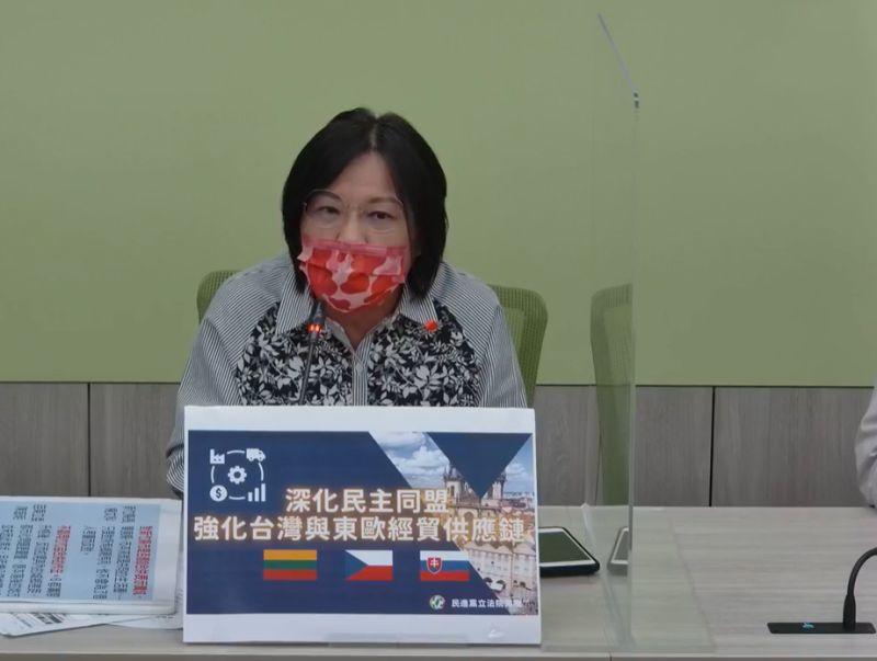 ▲民進黨團幹事長劉世芳表示,國民黨內的主席選舉如果始終站在民意對立面,台灣人民會看在眼裡。(圖/翻攝自民進黨立法院黨團直播)