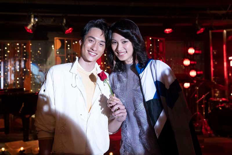 ▲王丹妮(右)、劉俊謙分別飾演梅豔芳與張國榮。(圖/索尼影業提供)