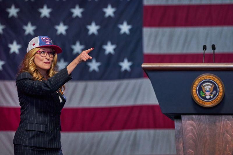 ▲梅莉史翠普飾演美國總統。(圖/Netflix)