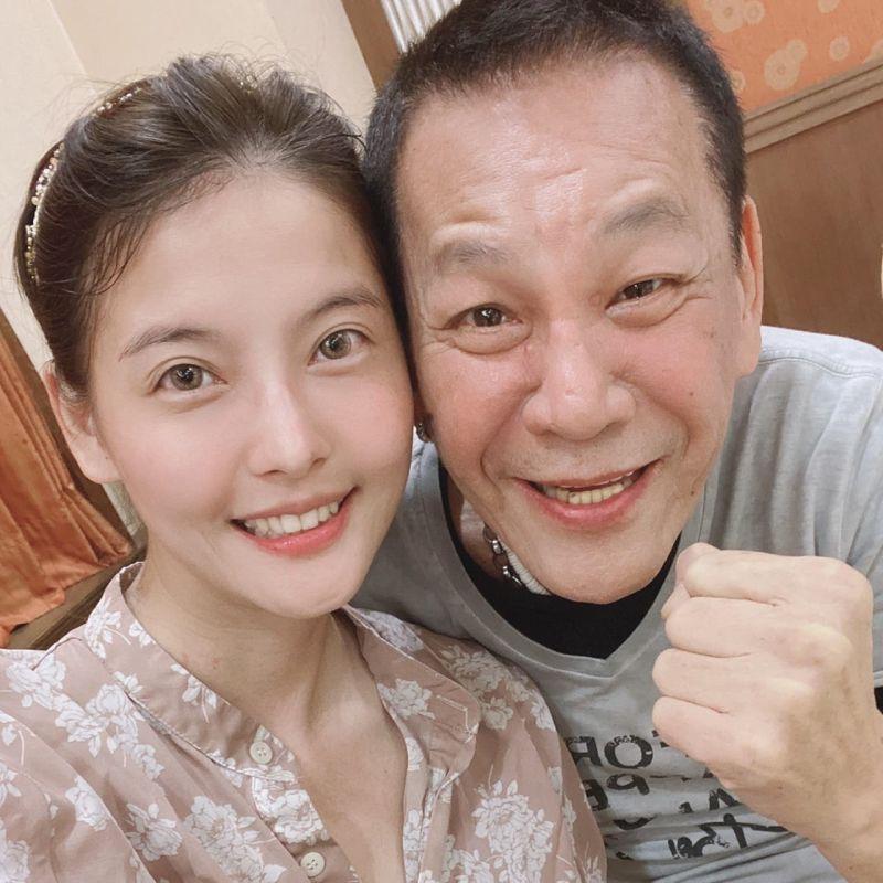 ▲王樂妍(左)、龍劭華在《美麗人生》飾演父女。(圖/王樂妍提供)