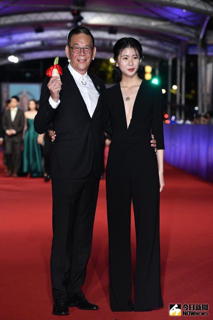 ▲陳璇(右)、龍劭華2年前一起踏上金鐘紅毯。(圖/NOWnews攝影中心)