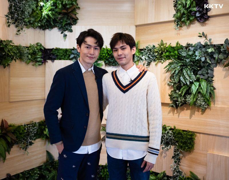 ▲河合朗弘(左)、邱治澔從網友變成好友。(圖/KKTV)