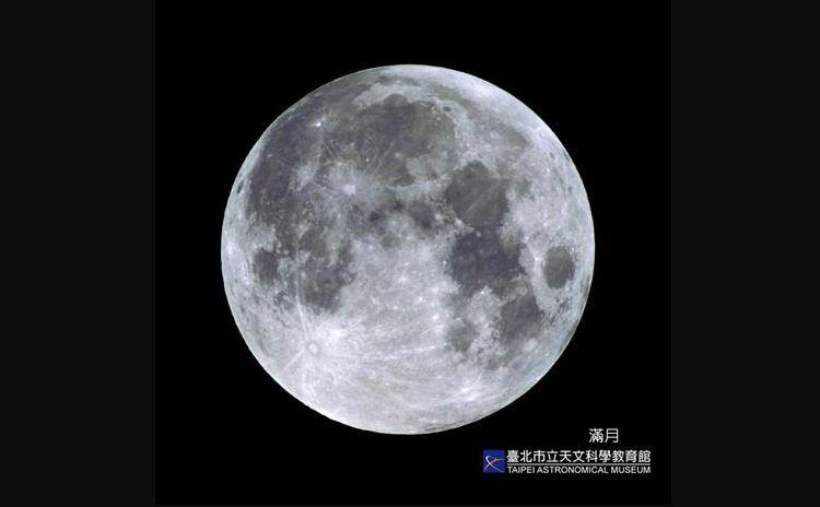▲台北天文館表示,從2014年到2020年的中秋,其實都並非滿月,在睽違8年後,今年的9月21日才真正又出現「中秋月圓」。(圖/台北天文館提供)