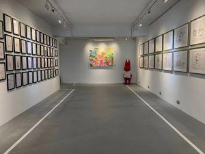 ▲小鬼黃鴻升的個人藝術展「《EVOLUTION》by ALIEN HUANG ART EXHIBITION」在今(16)日登場。(圖/AES工作室提供)