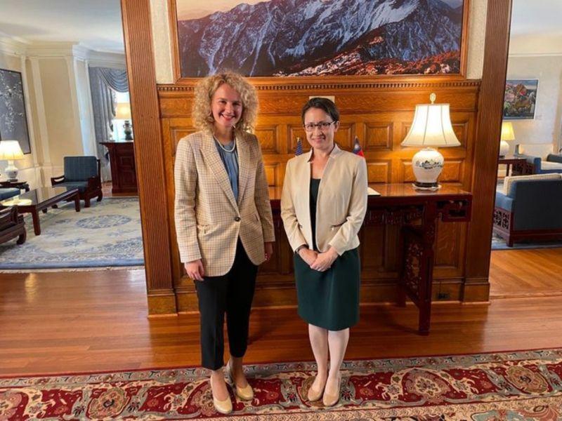 立陶宛經長訪蕭美琴 期待10月台灣經貿團