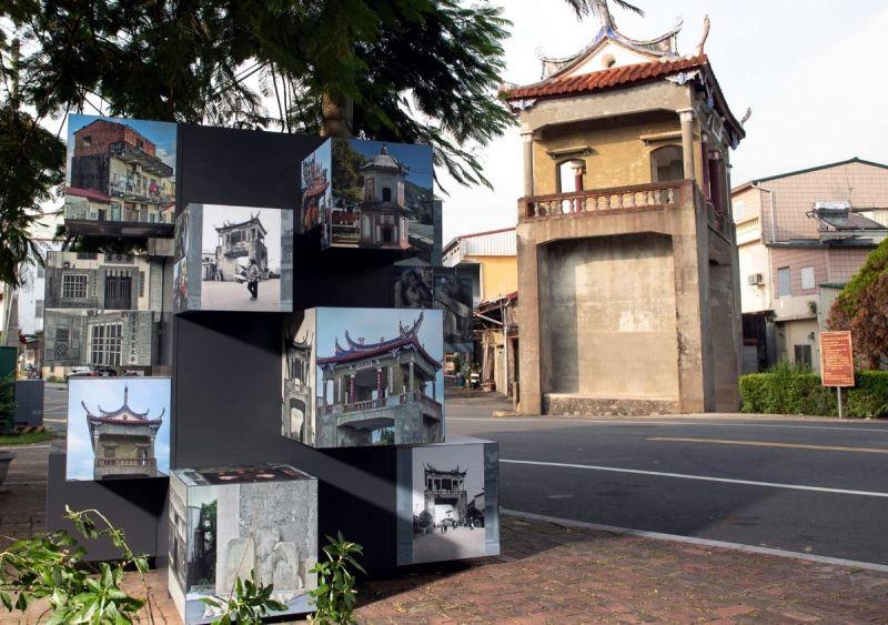 ▲六堆各堆的文化地景,創作了9座戶外影像藝術作品,設置地點分別在右堆:美濃文創中心、東門樓。(圖/六堆客家文化園區提供,