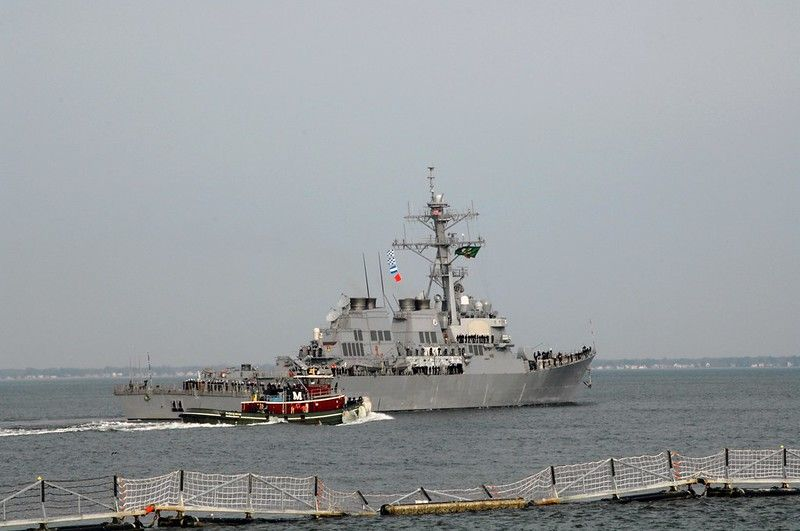 美艦今年第9度通過台海 國防部:全程掌握、無異狀