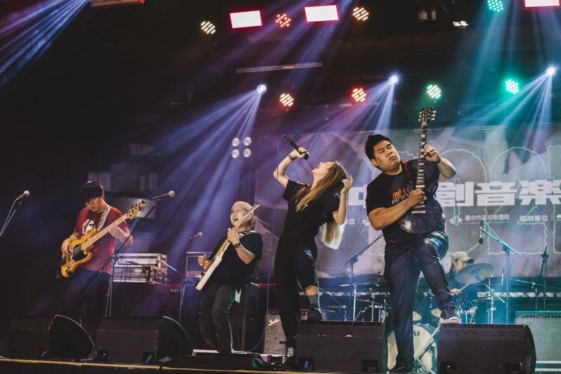 ▲台中原創音樂大賽,所有樂團演出能力都很強,競爭十分激烈(圖/新聞局提供2021.9.20)
