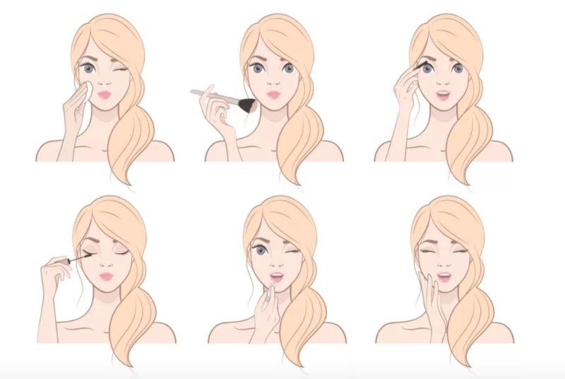▲你化妝最注重哪一個步驟?秒看你的「真實性格」。(圖/翻攝自塔羅牌艾菲爾老師