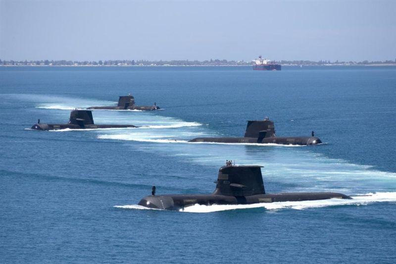 ▲法國先是被排除在美英澳三方安全聯盟AUKUS之外,後更丟掉與澳洲簽署的巨額潛艦合約,引發法國震怒。圖為澳洲海軍柯林斯級艦隊。(圖取自facebook.com/RoyalAustralianNavy)