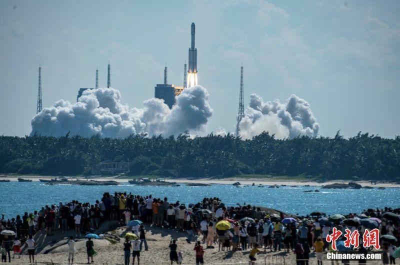 天舟三號貨運飛船發射 攜帶太空站補給物資