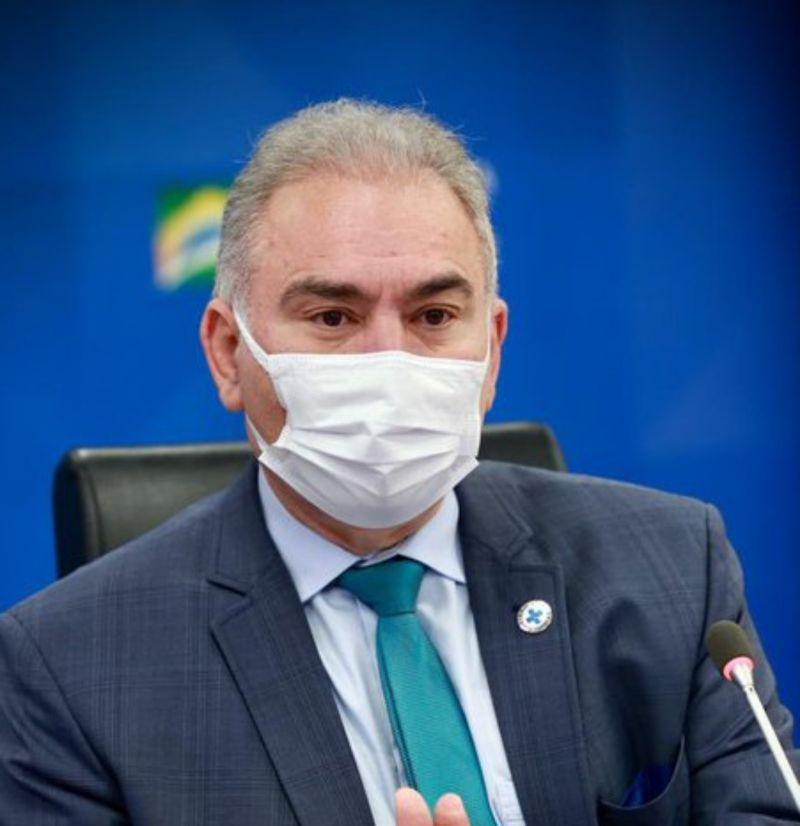 ▲巴西衛生部長奎羅加剛去紐約參加完聯合國大會,就在當地被驗出對新冠病毒呈陽性反應。資料照。(圖/翻攝自推特)