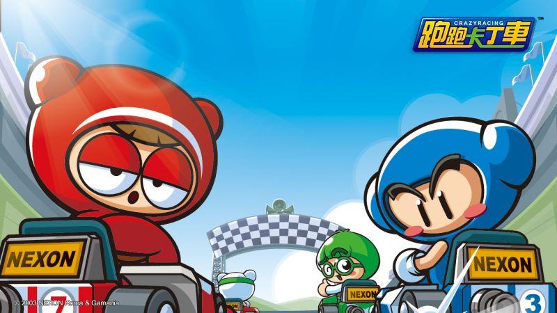 ▲《跑跑卡丁車》的背景圖,畫面感十足,一秒就可以與睏寶跟藍寶馳騁在賽車場上。(圖/橘子集團提供)