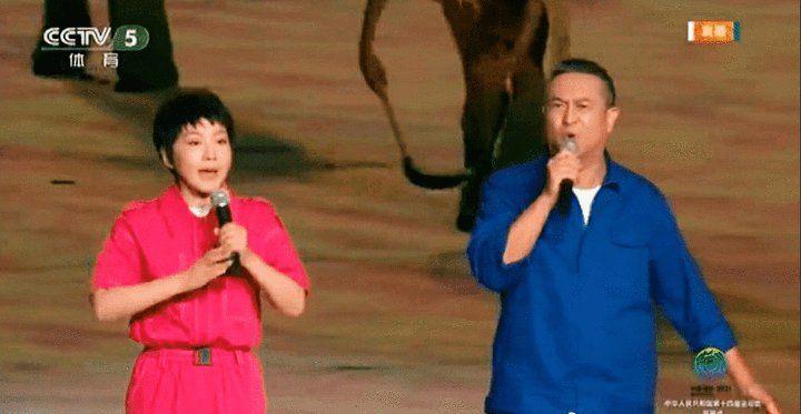▲中國全運會日前開幕,赫然出現藝人演唱著名紅歌「社會主義好」。(圖/翻攝自CCTV)