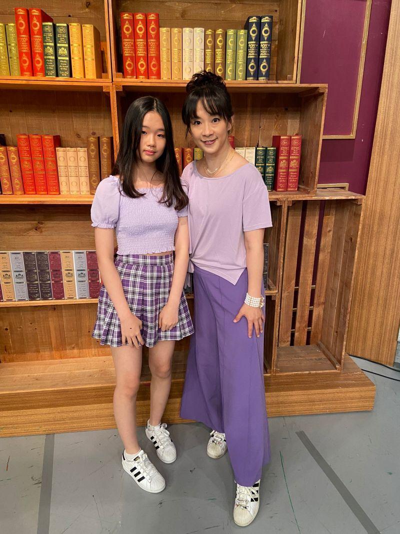 ▲李祖寧(右)帶著國三生的女兒Bling上《全民星攻略》。(圖/東森提供)