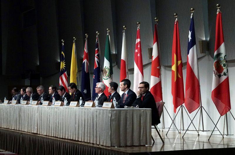 ▲台灣與中國近期都申請加入跨太平洋夥伴全面進步協定,但因兩岸之間關係敏感,誰能獲准加入也成了關注焦點。圖為2019年CPTPP會議資料照。(圖/美聯社/達志影像)