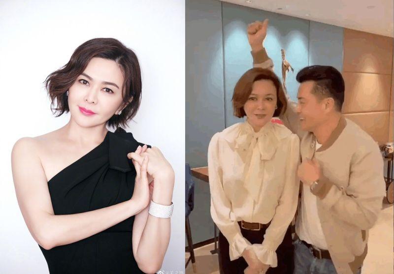 ▲58歲的關之琳(左圖、右圖左)亮相,美貌依舊。(圖/關之琳、呂良偉微博)