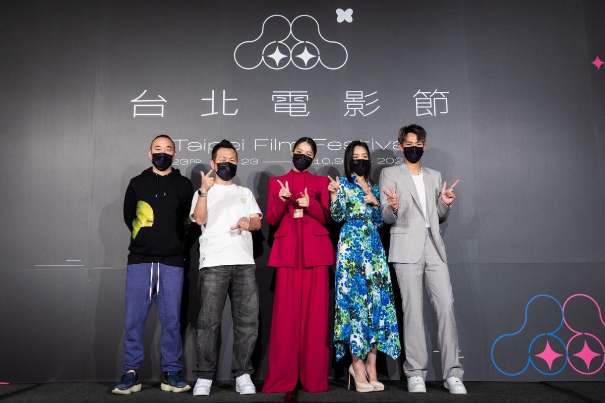 ▲九把刀(左二)帶《月老》劇組為台北電影節揭幕。(圖/台北電影節提供)