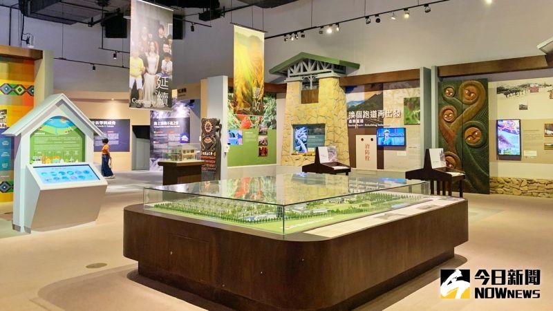 ▲展覽以好玩透過設計讓觀展民眾可以從遊戲中輕鬆的理解水土保持的工作內容。(圖/記者陳美嘉攝,2021.09.24)
