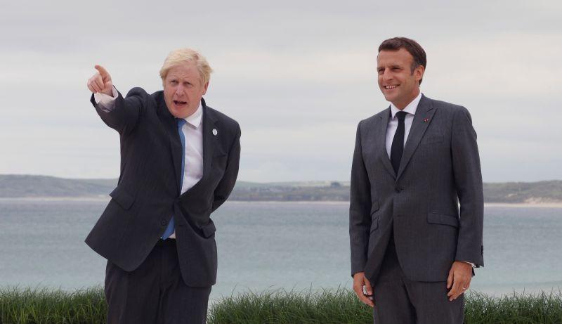 ▲英國首相辦公室表示,首相強生已與法國總統馬克宏通話,雙方重申英法關係的重要性。資料照。(圖/美聯社/達志影像)