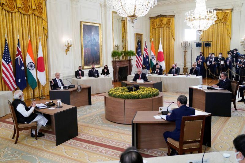 ▲日本、美國、印度與澳洲領袖已同意在COVID-19(2019冠狀病毒疾病)疫苗、潔淨能源與太空領域上合作。(圖/美聯社/達志影像)