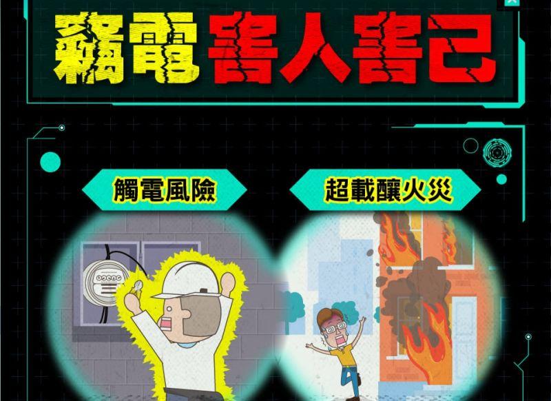 ▲台電呼籲民眾若發現住家附近有竊電現象,儘速舉報。(圖/翻攝自《電力粉團》臉書)
