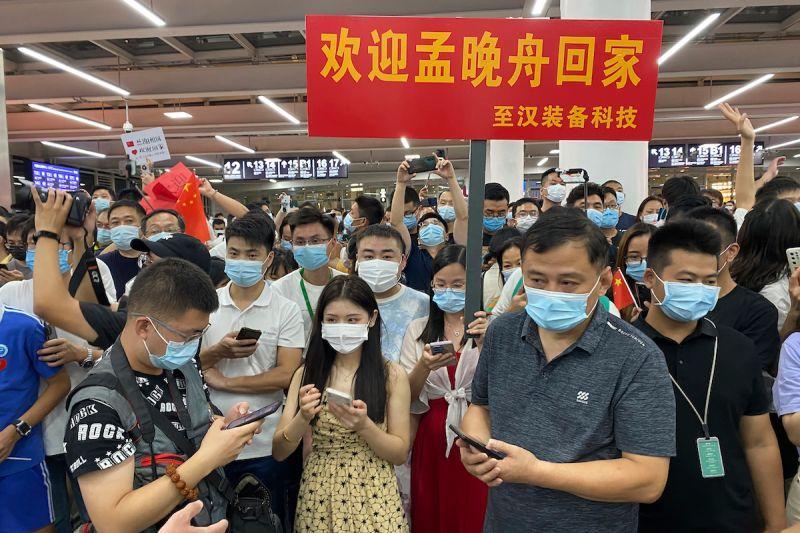 孟晚舟獲釋返國 中國全程直播大力宣傳