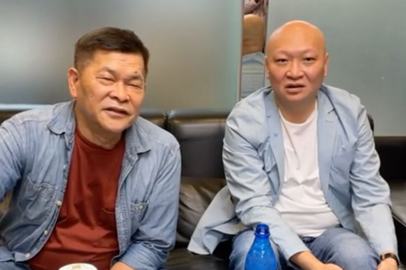 ▲澎恰恰(左)與林秉文一起開直播。(圖/翻攝澎恰恰臉書)