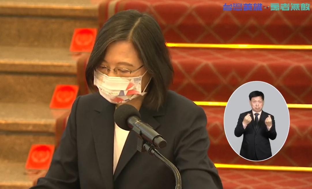 ▲總統蔡英文接見東京帕運台灣代表團。(圖/翻攝自蔡英文臉書)
