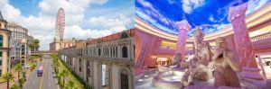 ▲義大世界購物廣場擁有全台唯一的歐式建築外觀的Outlet Mall,中庭的「羅馬天幕」以義大利特萊維(Trevi)噴泉為原型,彷彿置身在歐洲城市街頭。(圖/義大提供)