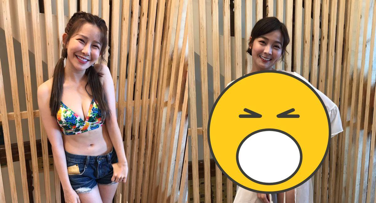 ▲阿樂(左)沙灘戰袍太惹火,籃籃(右)卻被笑虧是「洗澡大媽」。(圖/民視提供)