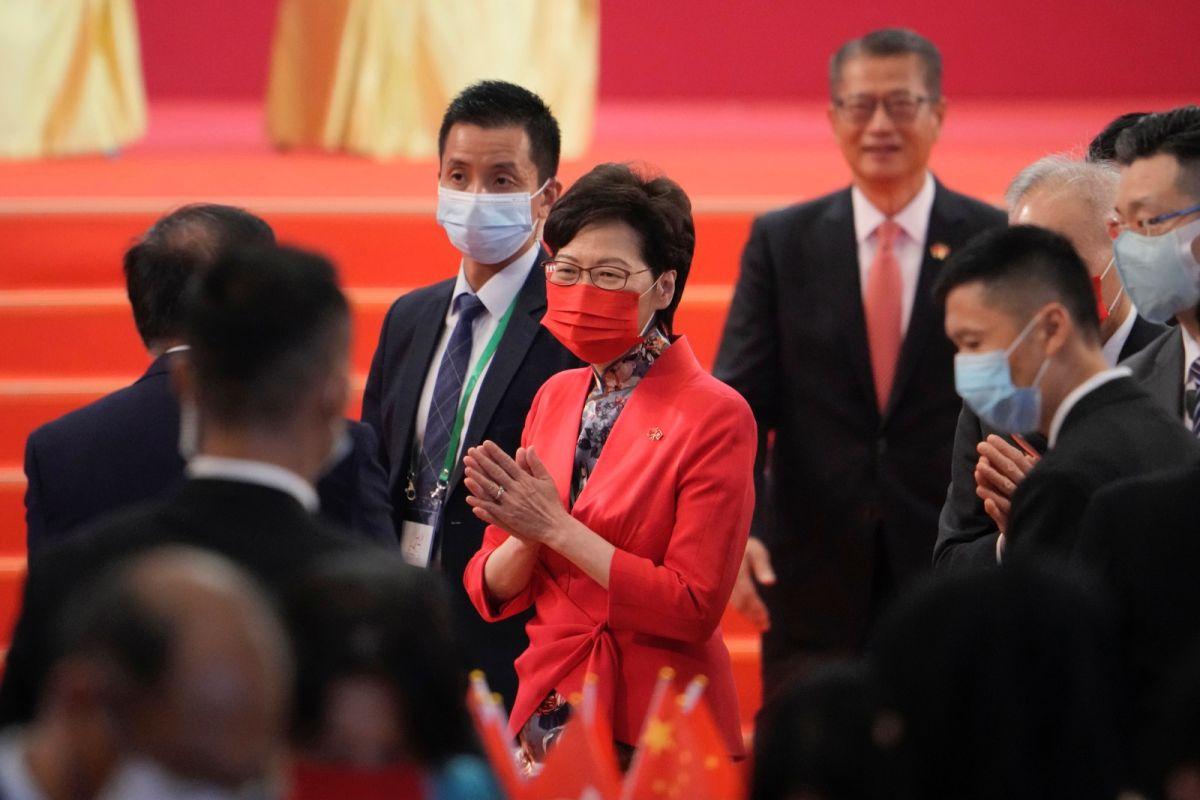 ▲香港行政長官(特首)林鄭月娥今天說,社交媒體的效力非常大,不可輕視。(圖/美聯社/達志影像)