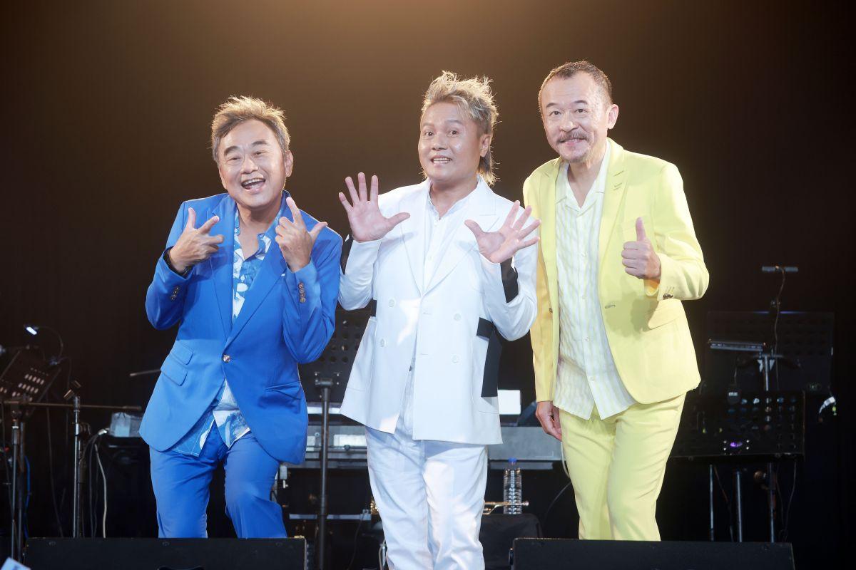 ▲「新寶島康樂隊」明年成軍30年,陳昇(左)想為團體舉辦生前告別式。(圖/新樂園製作)