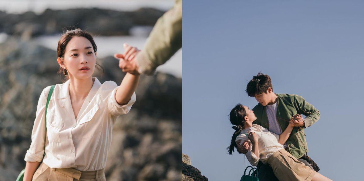 ▲申敏兒(左)和金宣虎演出《海岸村恰恰恰》,被暱稱為「酒窩CP」。(圖/翻攝AM Entertainment IG)