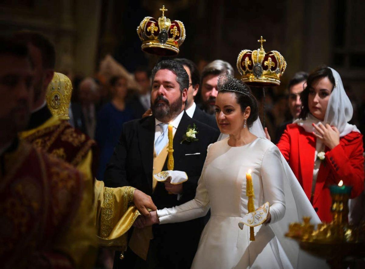 ▲俄羅斯1日舉行自1917年布爾什維克(Bolshevik)革命推翻羅曼諾夫(Romanov)王朝以來的首場皇家婚禮。(圖/翻攝自獨立報)