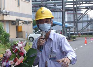 ▲台灣中油公司石化事業部執行長陳國棟致詞。(圖/記者黃守作攝,2021.10.02)