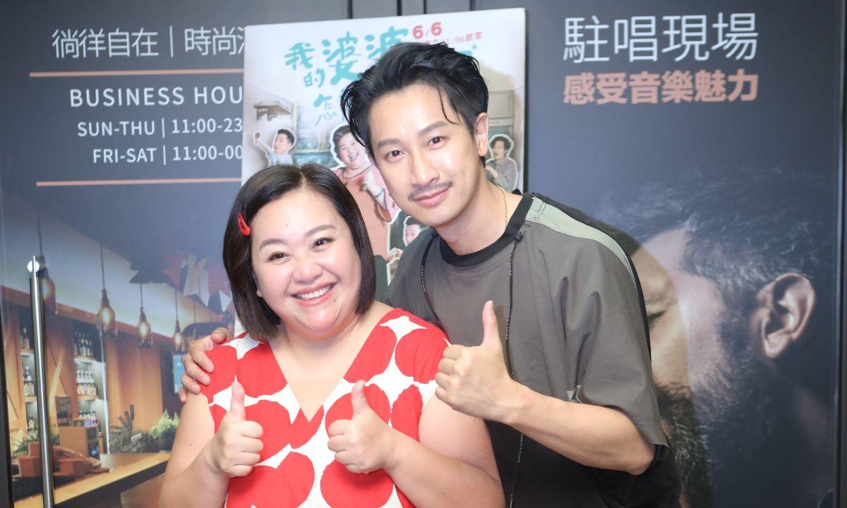 ▲鍾欣凌、邱凱偉(右)以《我的婆婆怎麼那麼可愛》抱走最佳女主角、最佳男配角。(圖/公視)