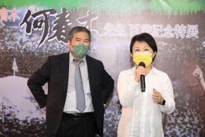 ▲市長盧秀燕表示,何春木對於民主政治及文化推廣貢獻良多,也對春木仙的尊敬與敬仰(圖/柳榮俊攝2021.10.3)